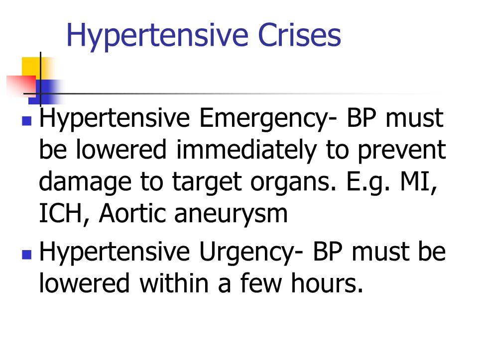 hypertensive urgency and emergency guidelines