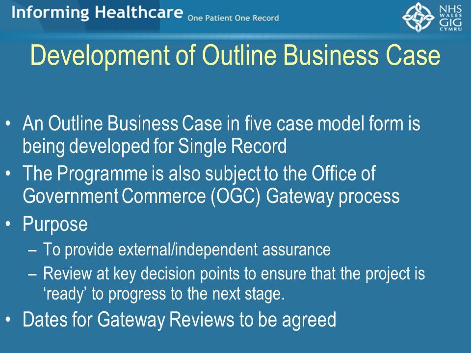 Development of Outline Business Case