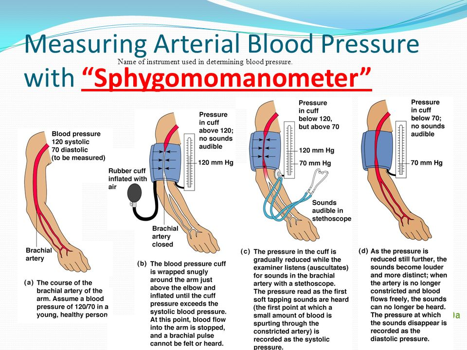 Measuring Arterial Blood Pressure with Sphygomomanometer