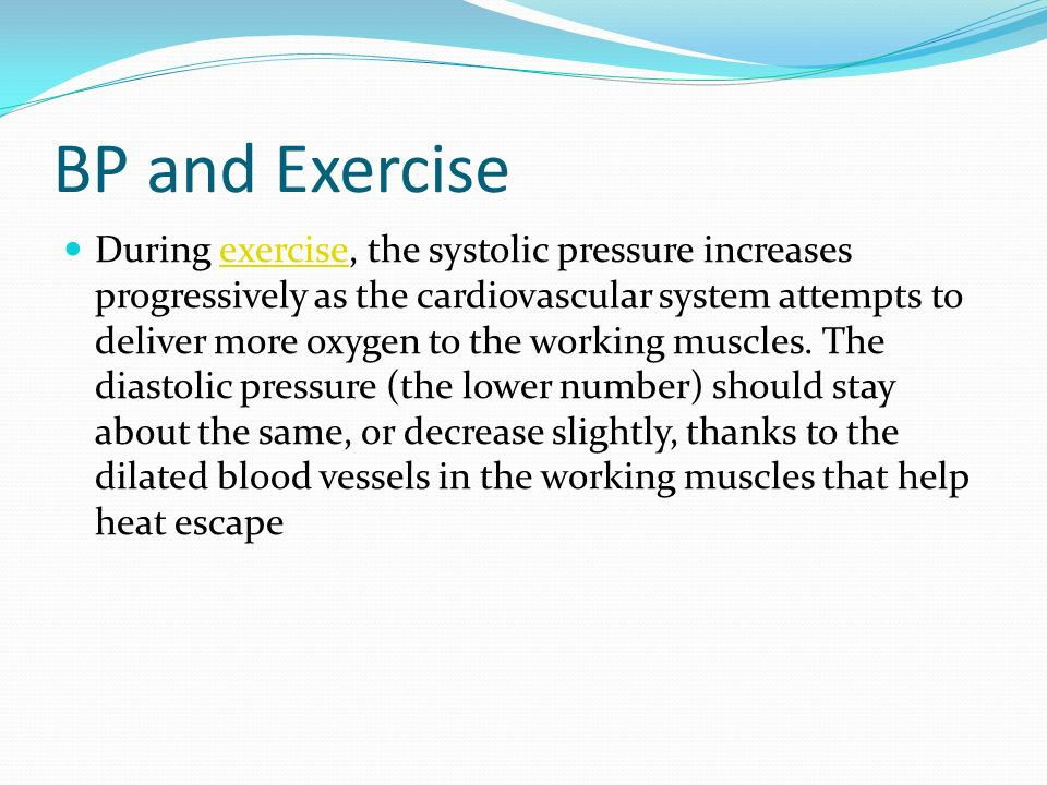 BP and Exercise