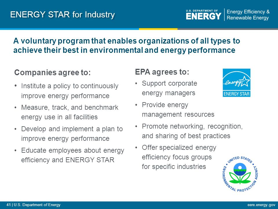 an analysis of energy star program The energy star program was developed by the us government (and the environmental protection agency or epa) in 1992 as a voluntary measure to allow businesses and industries to find ways to reduce energy consumption and improve energy efficiency without the government stepping in and creating laws requiring it.