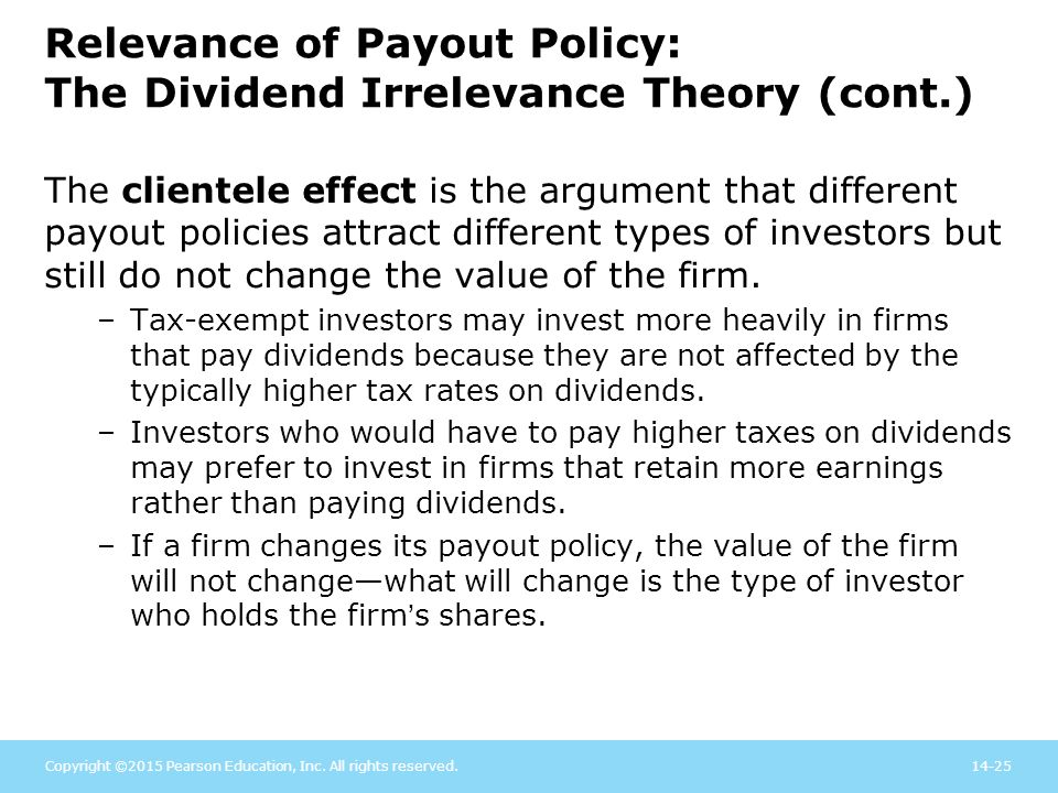the impact a dividend policy has on a firm Impact of capital structure on firm value introduction dividend policy has been an issue of interest in financial literature as many theories have been.