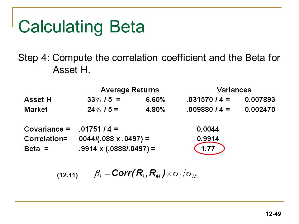 What Is The Formula For Calculating Beta Investopedia
