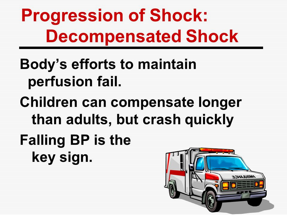 Progression of Shock: Decompensated Shock