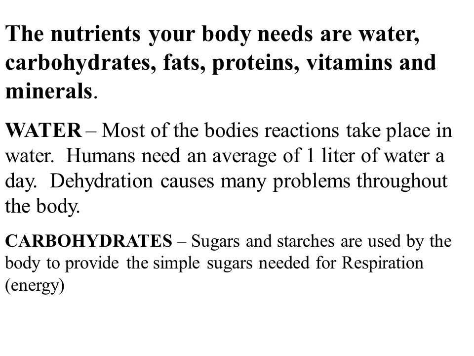 body proteins and water relationship
