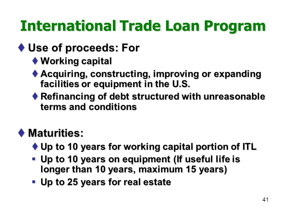 Chapter xxxiv financing exports ppt download for House trade in program