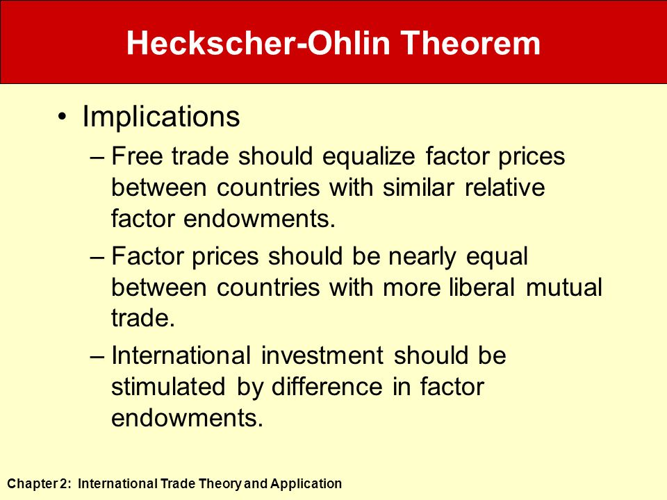 """applying heckscher ohlin theorem essay In other words, this essay will investigate whether mexican exports to the us  have decreased  classical hecksher-ohlin model is expanded and used as a  theoretical framework and base for  conclusions of the model can still be  applied  """"factor proportions and the heckscher-ohlin theorem"""", the."""