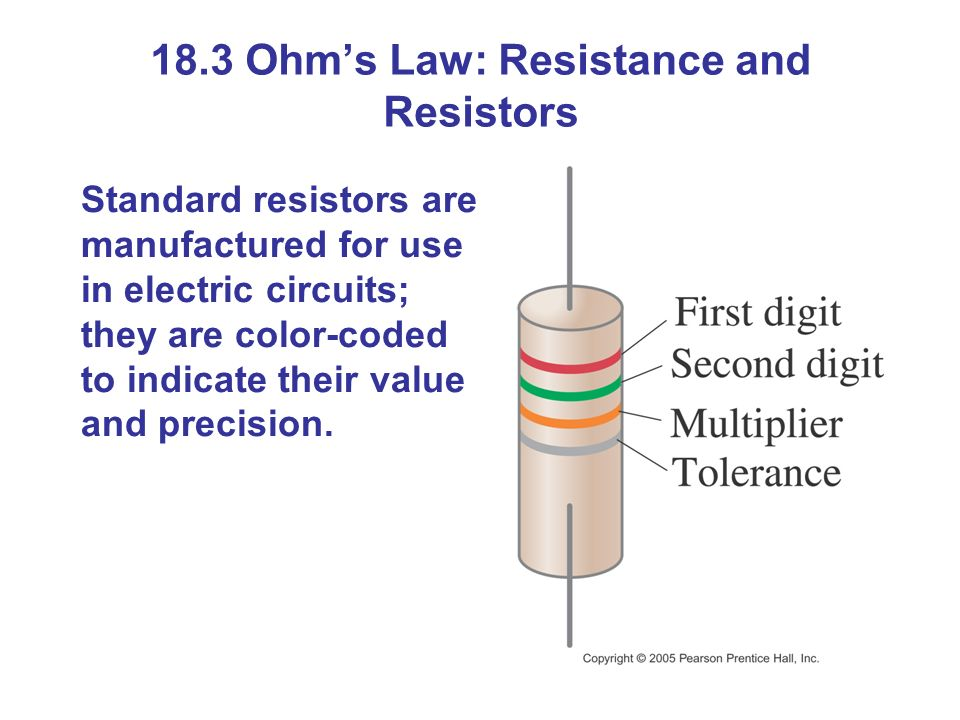 18.3 Ohm's Law: Resistance and Resistors