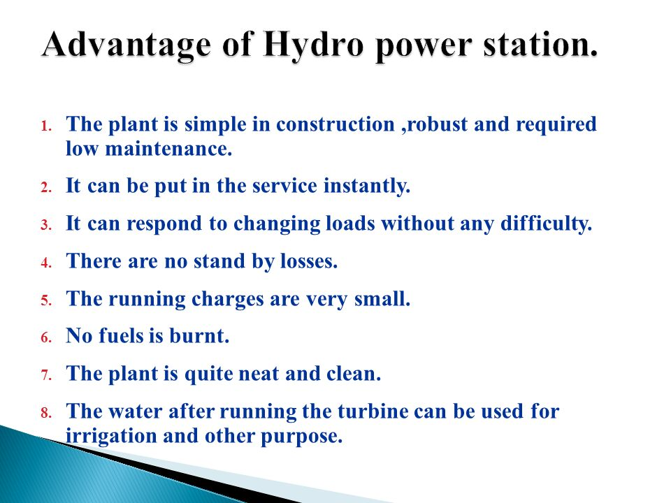 advantages of hydro power What is micro hydro power, what are the advantages, disadvantages and  limitations of microhydro power generators.
