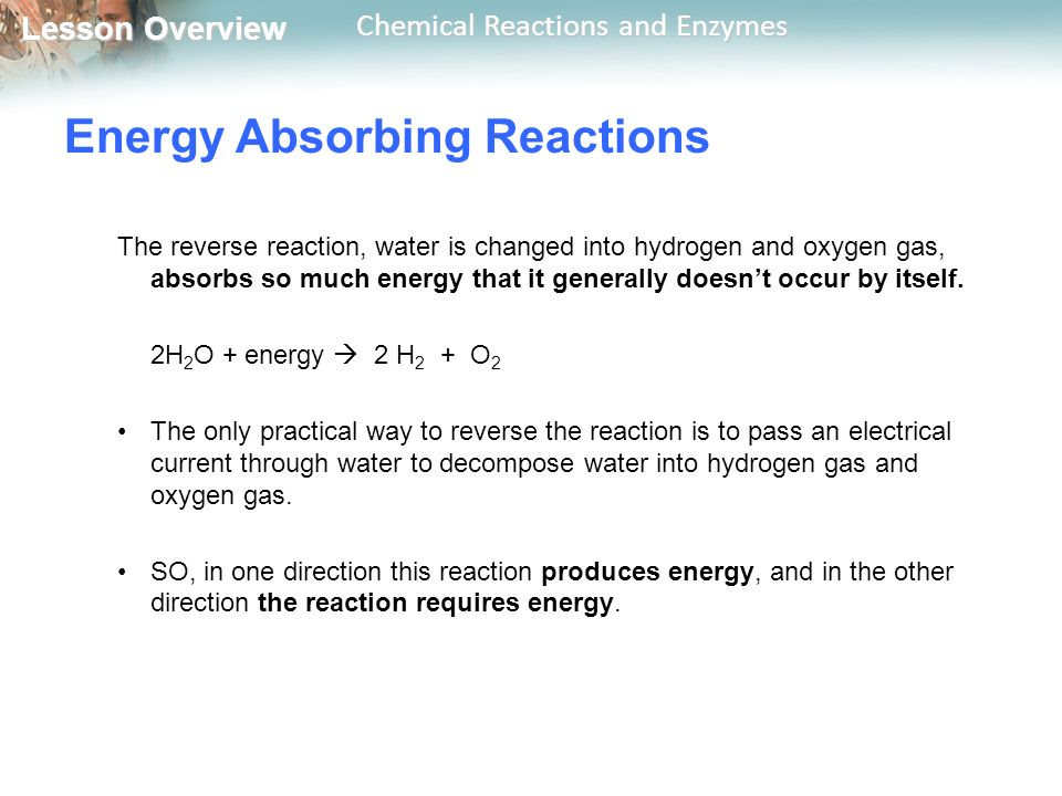 Energy Absorbing Reactions