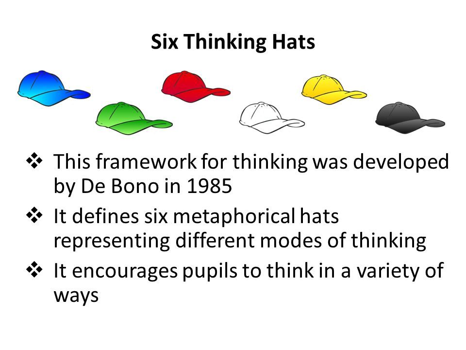 an analysis of the book six thinking hats by edward de bono The multi million-copy bestseller six thinking hats by edward de bono, author of lateral thinking and i am right you are wrong, teaches you how to run better meetings and make better decisionsmeetings are a crucial part of all our lives, but too often they go nowhere and waste valuable time.