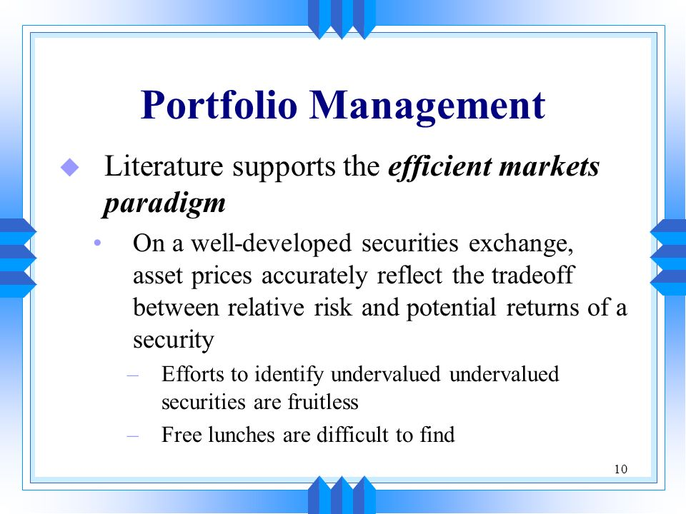 portfolio manager mba essay Masters of business administration (mba) are postgraduate degree programs in management, in their own league the mba is the traditional academic offer for management education the universities answer to questions from business for a precise and profound qualification for the future.