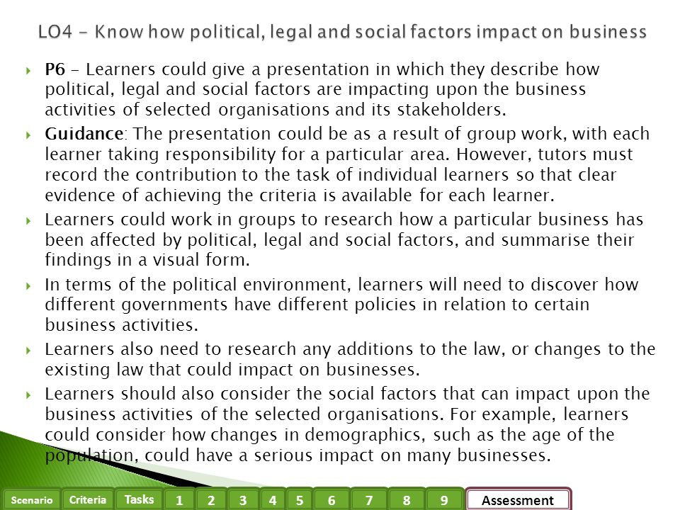political factors can have a direct impact The determinants of health  factors such as where we  factors such as access and use of health care services often have less of an impact.