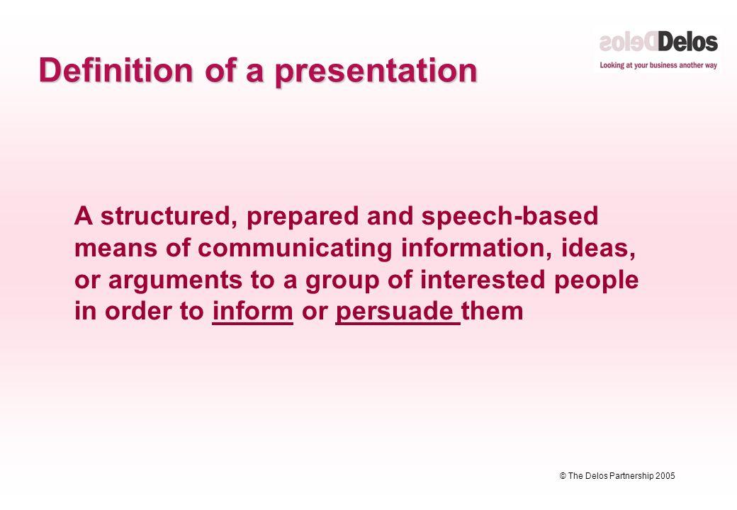 Presentation Speech Definition