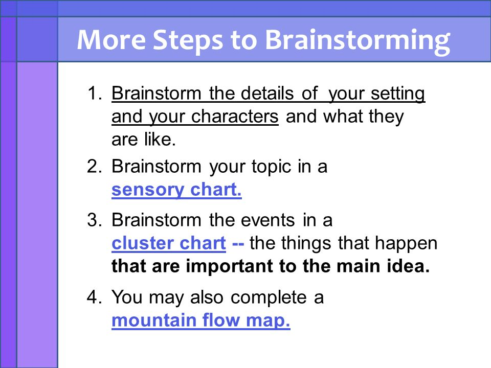 steps brainstorming How to brainstorm brainstorming is one of the most common types of informal idea invention and repeat these steps until you get a good result.