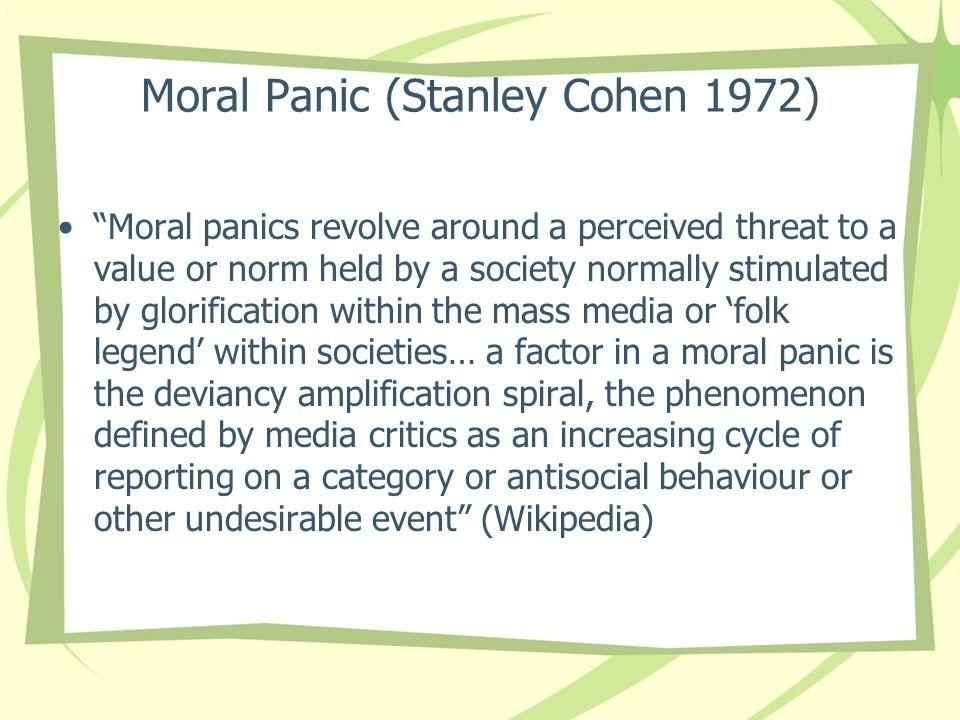 Moral Panic (Stanley Cohen 1972)