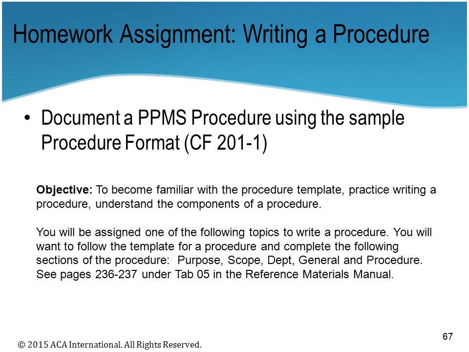 procedure writing topics