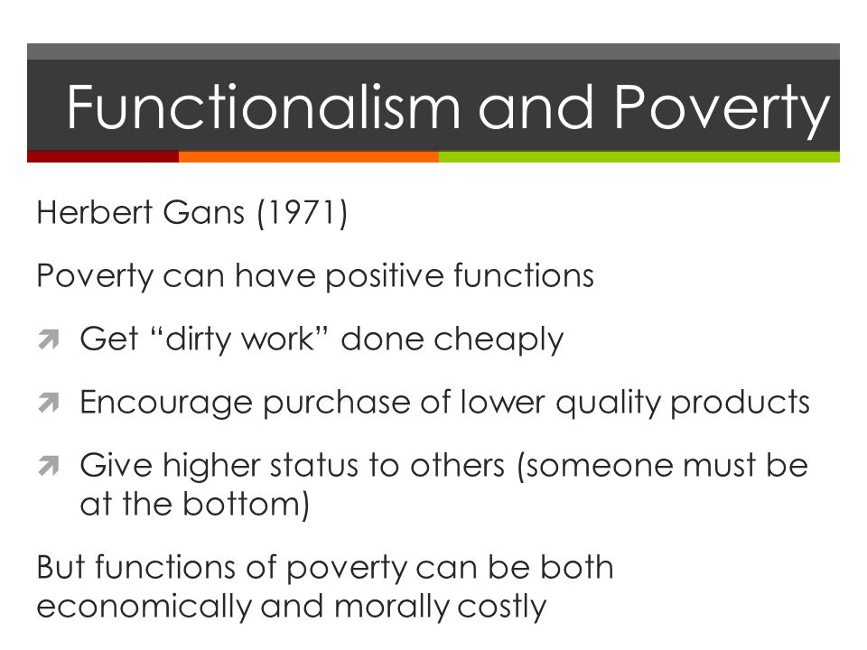 Functionalism positive thesis