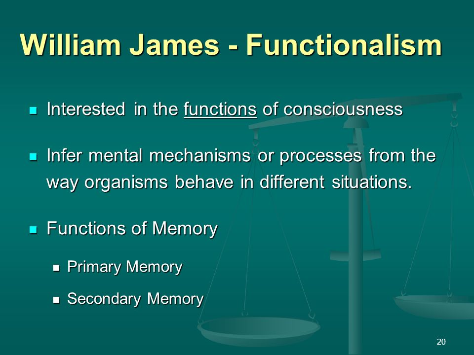 definition of psychology by william james pdf