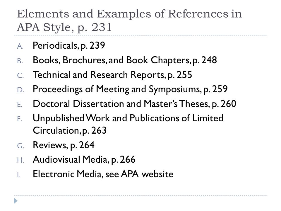 "why apa elements for research paper Students sometimes find the general process of writing an empirical research paper to be daunting yet, when one structure an empirical social scientific research paper to best express the results of a study"" two things the american psychological association (often shortened to ""apa 6th"" american."