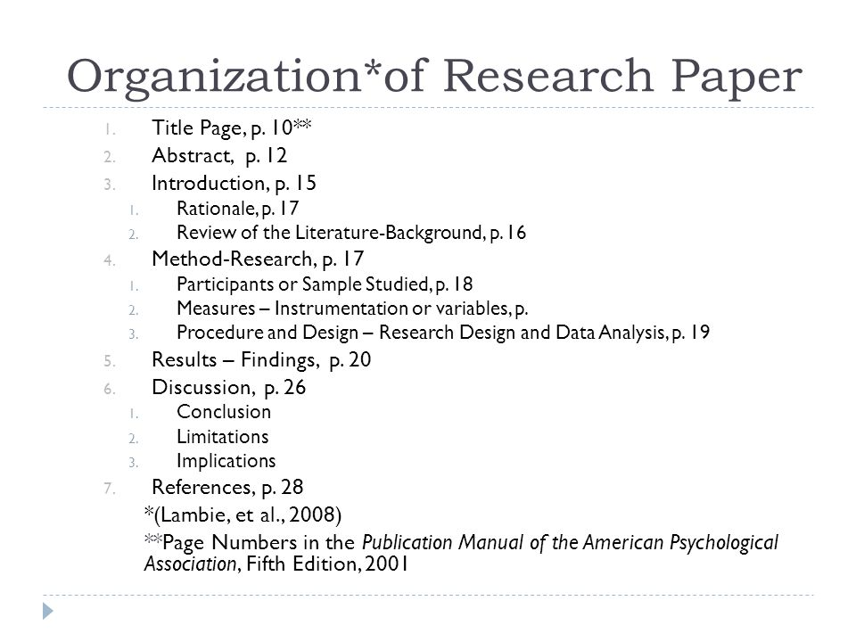 apa style research paper tips