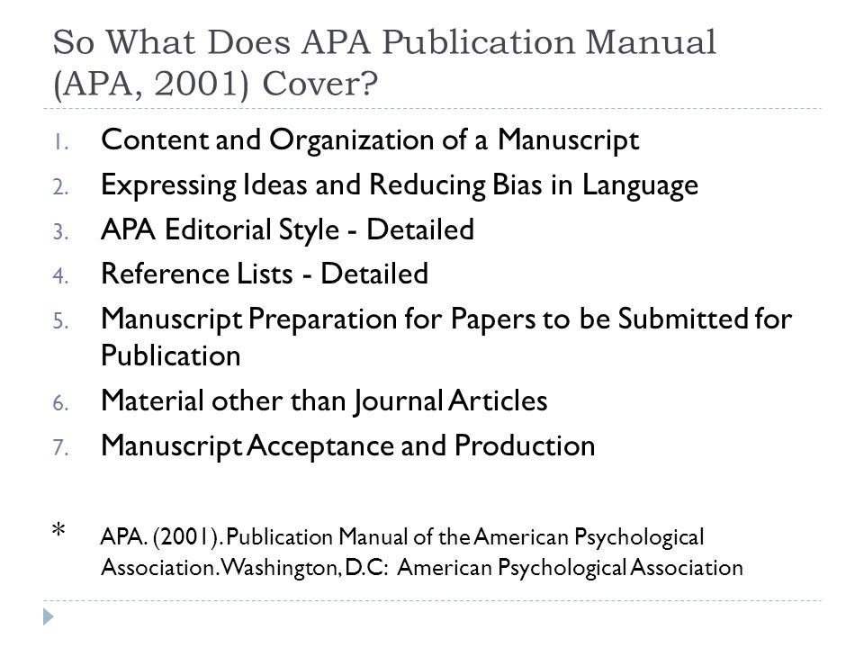 publication manual of the american psychological association pdf