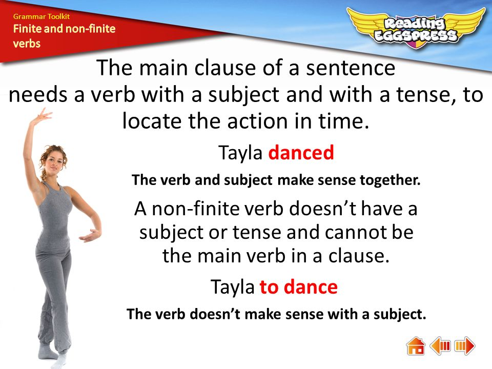 how to teach finite verbs