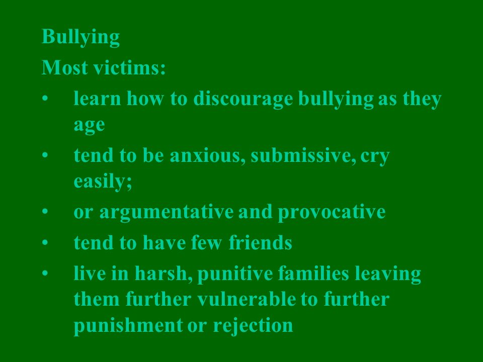 Overt And Relational Aggression And Victimization 2018