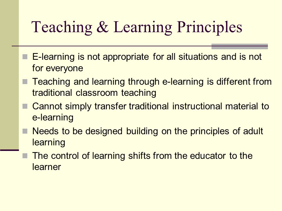 applying theories and principles for learning Review article adult learning theories and medical education:  applying these theoretical concepts in medical  the broader context of adult learning theories.