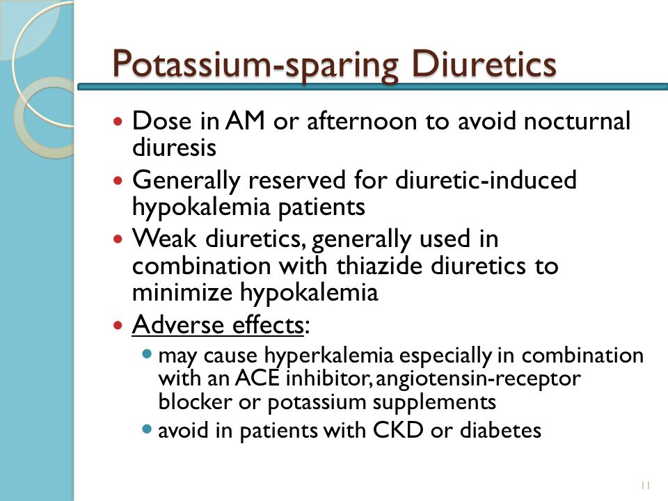 Potassium Sparing Diuretics And Ace Inhibitors