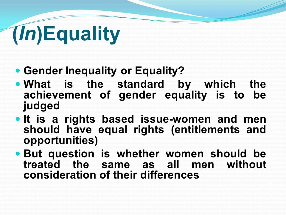 gender inequality research Gender inequity research proposal march 21, 2014 writer research proposals 0 gender inequality is the problem which is characterized with the unfair treatment, attitude and understanding of the male and female genders and their role in the society.