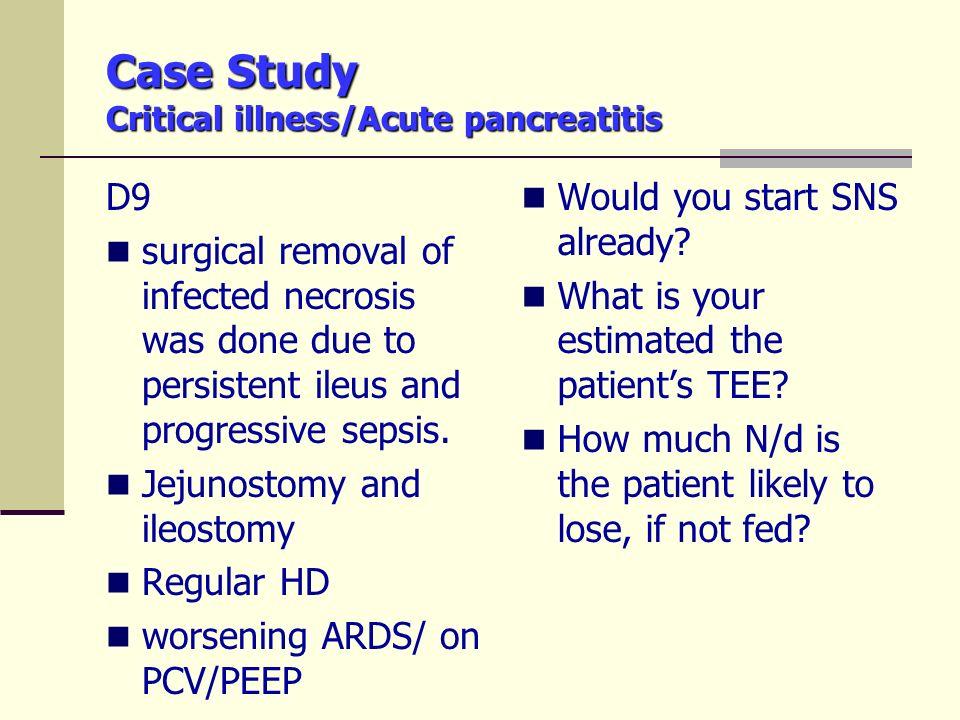 acute pancreatitis case study nursing Transcript of chronic pancreatitis case study  mechanisms of acute pancreatitis is which of the following  in nursing management of a patient with acute .