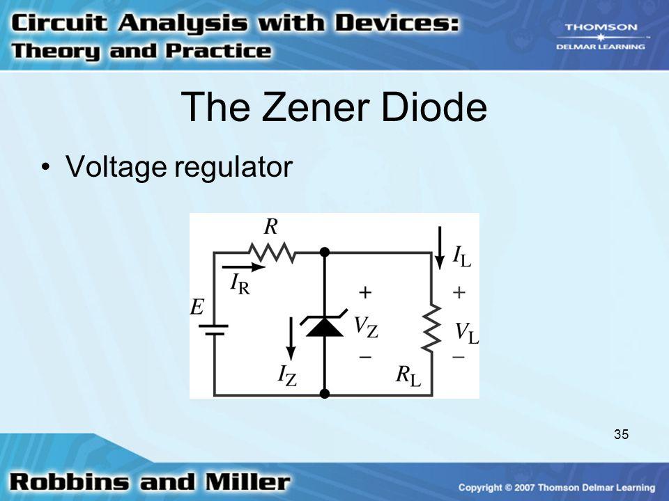 The Zener Diode Voltage regulator