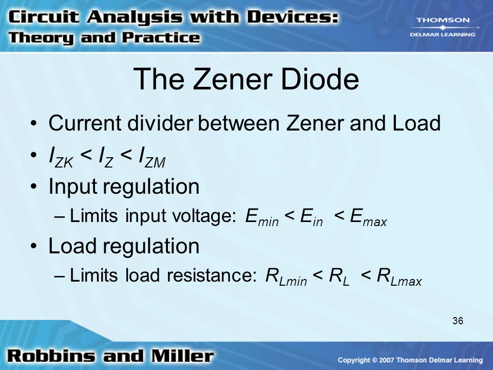 The Zener Diode Current divider between Zener and Load