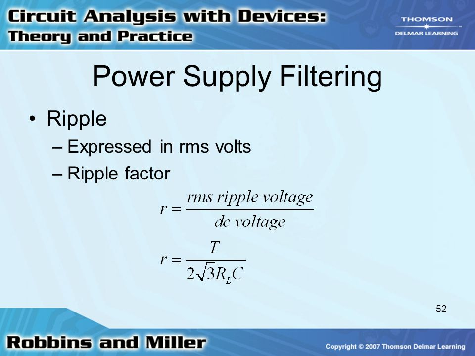 Power Supply Filtering
