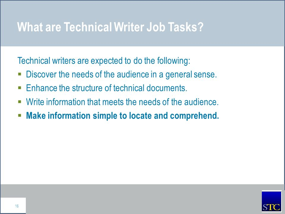 stc technical writing