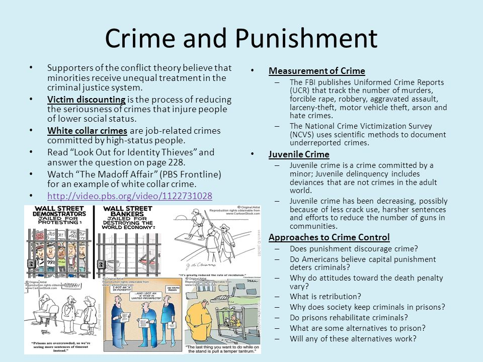 Crime and Punishment Measurement of Crime