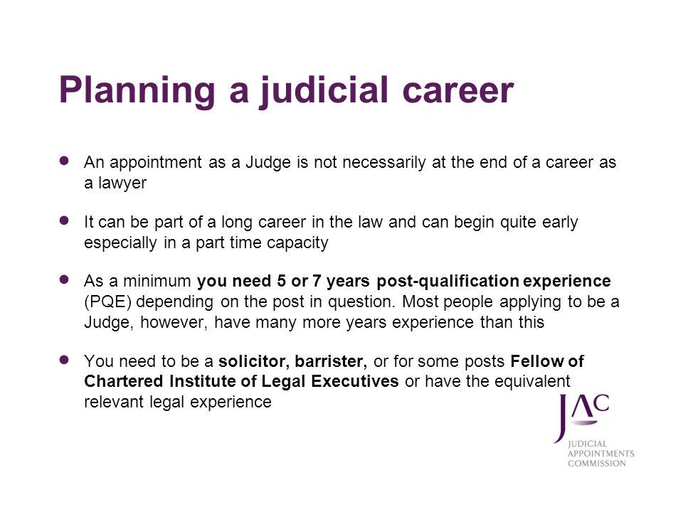 Planning a judicial career