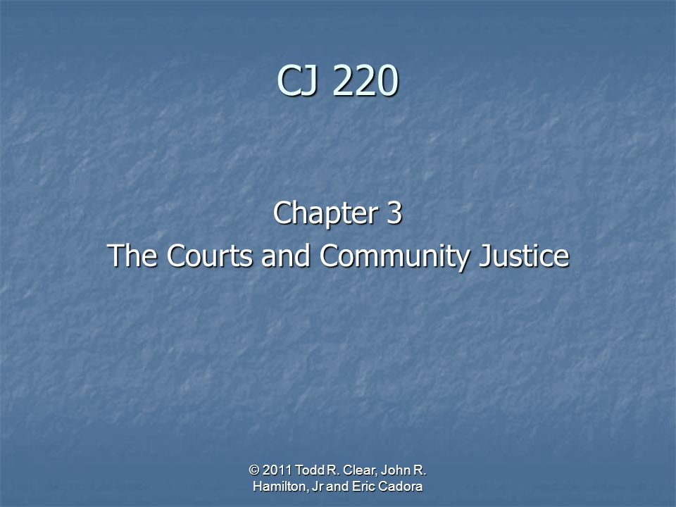 cjs 220 the court system Title of certificate: law enforcement and criminal justice - police academy,  certificate  the letter of eligibility must be presented to records and  registration  218 - criminal justice communications 3 credit hours cjs 220 -  emergency.
