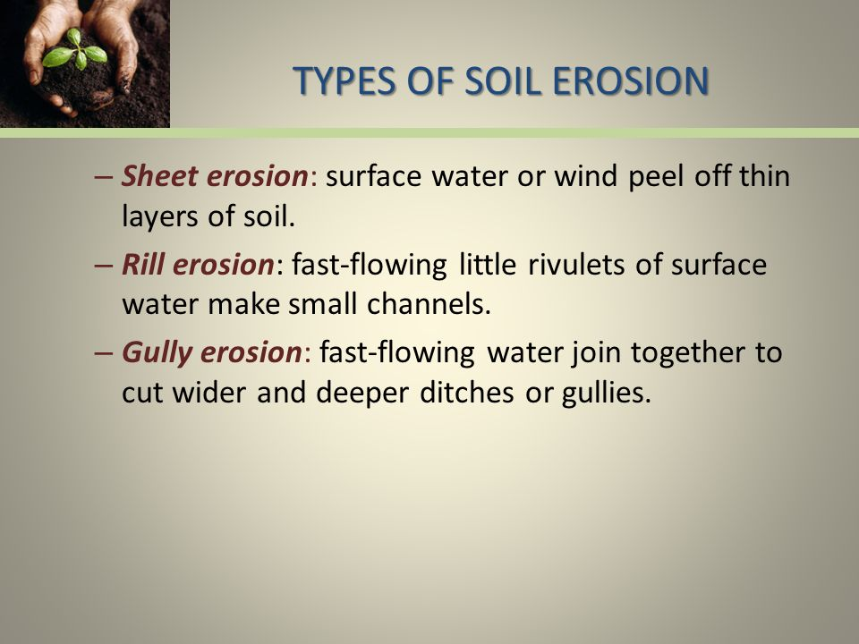 Soil a renewable resource ppt download for Types of soil resources