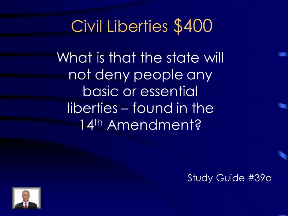 civil liberties study guide Civil liberties go to civil liberties the origins of civil rights: history & overview related study materials study guide & test prep.
