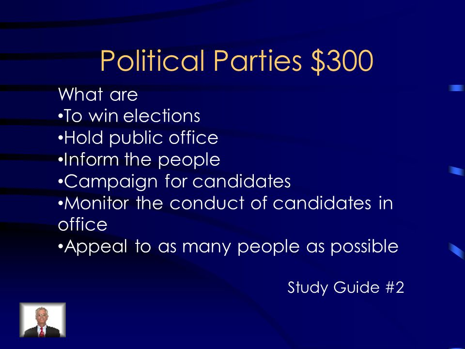 a summary of a voters manual for the political parties and the candidates Political parties are teams of politicians, activists, and voters whose goal is to win control of government to do so, parties perform essential tasks of recruiting and nominating candidates, garnering the resources needed to run campaigns, and pursuing a policy agenda that can help them appeal to voters.