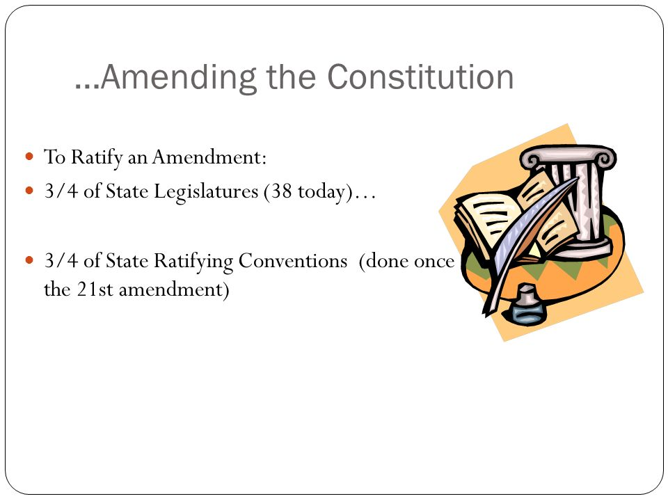 …Amending the Constitution