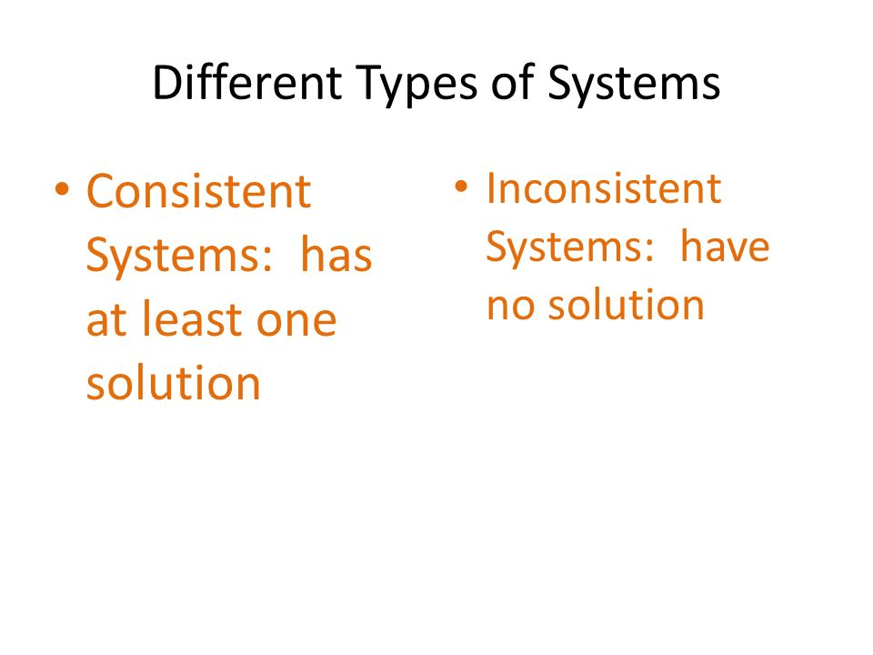 Different Types of Systems