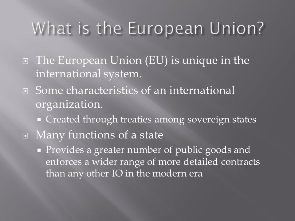 the creation of the european union A brief history of the eu from the end of world war two to the present this has been recorded for use in classrooms when learning about the eu and should.