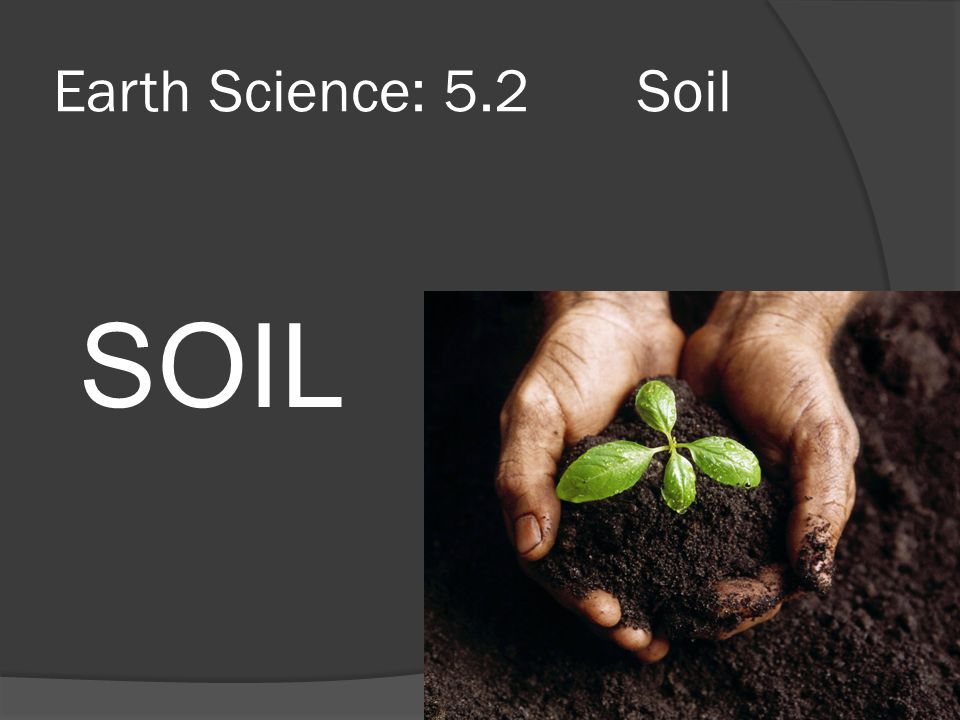 Earth science 5 2 soil soil ppt video online download for Science dirt