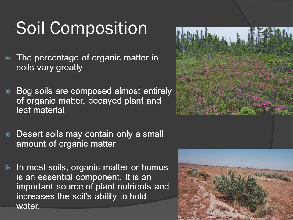 Earth science 5 2 soil soil ppt video online download for Earth soil composition