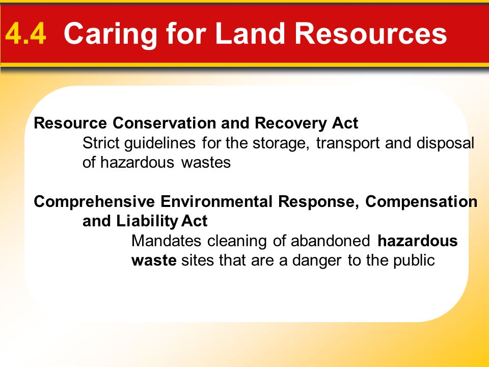 4.4 Caring for Land Resources