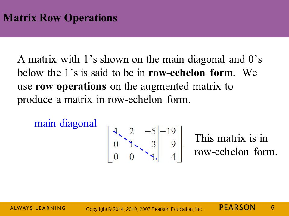 Matrix Row Operations