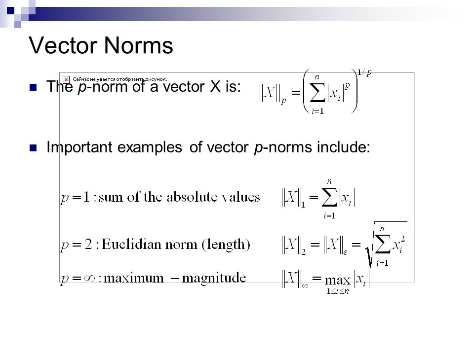 how to find norm of a matrix
